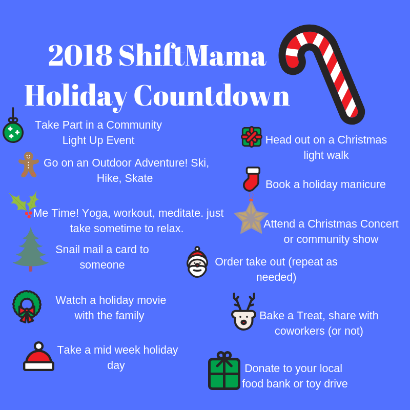 2018 ShiftMama Holiday Countdown