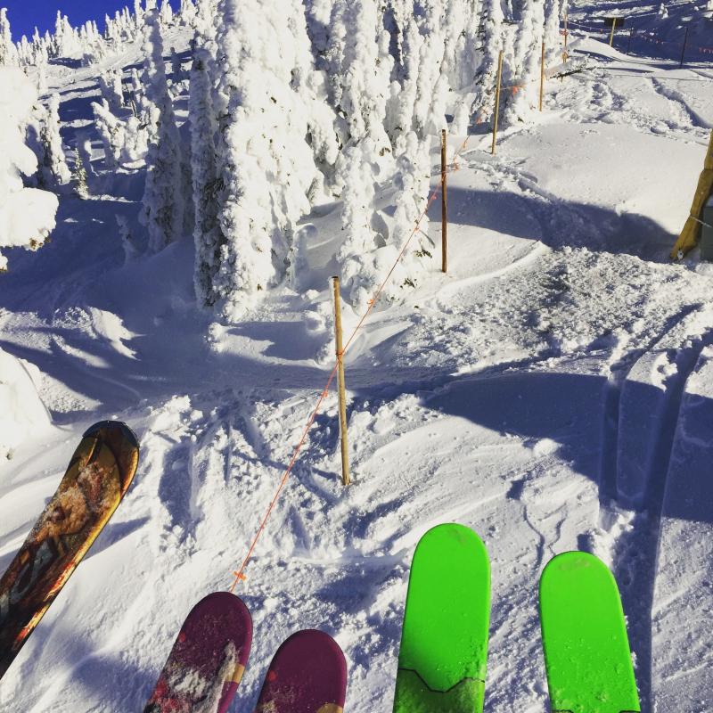 Sunny Skiing at Big White