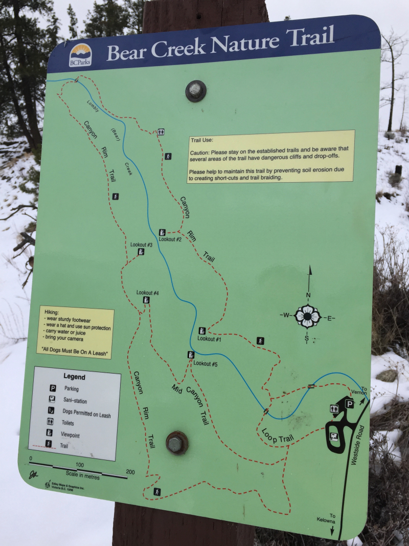 Trail Sign for Bear Creek PP